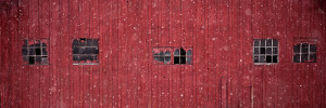 Snowing on Barn